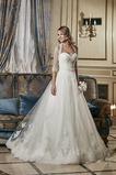 Vestido de novia Corte-A Con Chaqueta largo Encaje Escote Corazón primavera