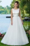 Vestido de novia Cristal Natural Cremallera Cola Capilla Sencillo Satén