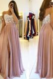 Vestido de fiesta Elegante Escote Corazón Hasta el suelo Corte-A Natural