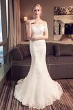 Vestido de novia Corte Sirena Verano Falta Fuera de casa Capa de encaje