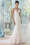 Vestido de novia Apliques Cremallera Corte Sirena Formal Encaje largo
