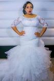 Vestido de novia Camiseta largo Encaje Cremallera Corte Sirena Iglesia