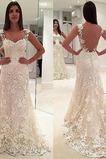 Vestido de novia Encaje Espalda Descubierta Otoño largo Encaje Sala