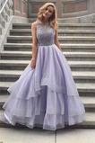 Vestido de fiesta Natural Escalonado Falta Corte-A Hasta el suelo Organza