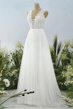 Vestido de novia Corte-A Sala Encaje Baja escote en V Escote en V Apliques