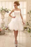 Vestido de novia Sin tirantes Fajas Hasta la Rodilla Satén Fuera de casa
