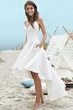 Vestido de novia Sencillo Escote de Tirantes Espaguetis Sin mangas Satén