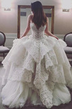 Vestido de novia Encaje Corte-A Falta Cola Capilla Capa Multi Cordón