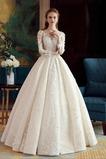 Vestido de novia Verano Capa de encaje Escote con Hombros caídos Apliques