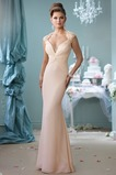 Vestido de novia largo Elegante Plisado Manga corta Gasa Alto cubierto