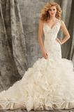 Vestido de novia Corte Sirena primavera Moderno Espalda medio descubierto