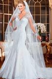 Vestido de novia Manga larga Mangas Illusion tul largo Corte Sirena