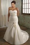 Vestido de novia 2015 Corte Sirena Sin mangas tafetán Escote Corazón
