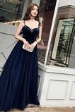 Vestido de noche Escote Corazón Corte-A Abalorio Elegante Natural primavera
