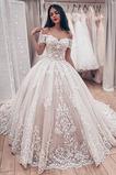 Vestido de novia Clasicos Manga corta Corte-A Escote con Hombros caídos