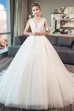 Vestido de novia Elegante Encaje Encaje Sin mangas Espalda Descubierta