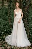 Vestido de novia Elegante Encaje Espalda Descubierta Capa de encaje
