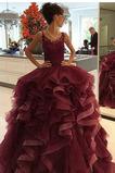 Vestido de fiesta Escote redondo Formal Corte-A tul Sin mangas Hasta el suelo