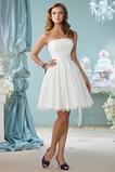 Vestido de novia Natural Hasta la Rodilla Encaje Cremallera Corte-A