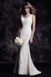 Vestido de novia Encaje Sin mangas Fuera de casa largo Natural Corte Sirena