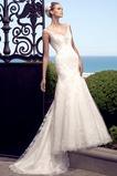 Vestido de novia primavera Clasicos Espalda medio descubierto Sin mangas
