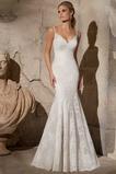 Vestido de novia Natural Sin mangas Sala primavera Escote de Tirantes Espaguetis