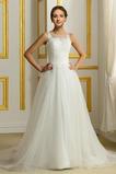 Vestido de novia Capa de encaje Rectángulo Sin mangas Corte-A primavera
