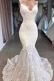 Vestido de novia Sin mangas Espalda Descubierta Corte Sirena Apliques