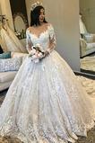 Vestido de novia Espectaculares Reloj de Arena Natural Corte-A tul Otoño