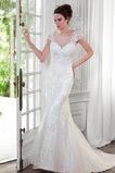 Vestido de novia Sin tirantes Natural Encaje Iglesia Reloj de Arena
