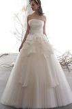 Vestido de novia Elegante Cascada de volantes Corte-A Hasta el suelo