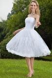 Vestido de novia Sin tirantes Corte-A Encaje Natural Fuera de casa Cremallera
