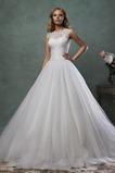 Vestido de novia Escote con cuello Alto primavera Sala Cremallera Natural