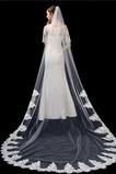 Velo de novia blanco puro marfil aplique de encaje de alta gama accesorios de boda de velo largo de 3 metros