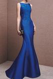 Vestido de noche Corte Sirena Satén Otoño Formal Cremallera Bordado