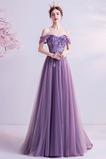 Vestido de noche Elegante Escote con Hombros caídos Otoño Natural Hasta el suelo
