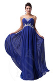 Vestido de noche Gasa Corte-A Elegante Falta Espalda Descubierta Hasta el suelo