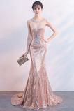 Vestido de fiesta Cremallera Natural Joya Corte Sirena Corpiño Acentuado con Perla