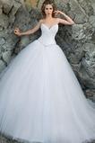 Vestido de novia Corte princesa Escote en V largo primavera Iglesia