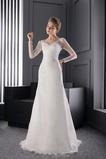 Vestido de novia Fajas Encaje Sala Mangas Illusion Natural Formal