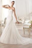 Vestido de novia tul Con velo largo Plisado Sala Natural