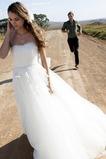 Vestido de novia Sencillo Fuera de casa Cremallera Natural tul Verano