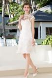 Vestido de novia Clasicos Espalda con ojo de cerradura Joya Apliques