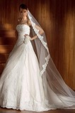 Vestido de novia Corte-A Natural Sin tirantes Sin mangas Cola Capilla