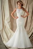 Vestido de novia largo Colores Sala Escote Cuadrado Encaje Sin mangas