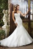 Vestido de novia Corte Sirena Cola Capilla Apliques Sin mangas Escote Corazón