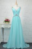 Vestido de noche Cordón Corte-A Plisado Formal Escote en V Blusa plisada