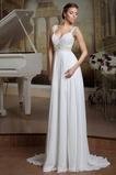 Vestido de novia Elegante Espalda Descubierta Sin mangas Plisado Fuera de casa