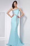 Vestido de fiesta Elegante Corpiño Acentuado con Perla Falta Corte Recto