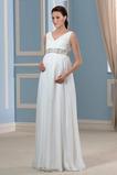Vestido de novia Tallas grandes Cinturón de cuentas Gasa Elegante Playa
